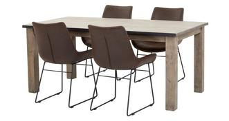 Houston Dining Table Set Of 4 Scoop Chairs
