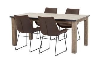 Dining Table & Set of 4 Scoop Chairs Houston