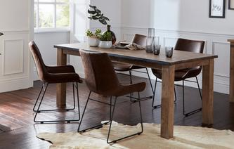 GXD Houston Dining Table U0026 Set Of 4 Scoop Chairs Houston