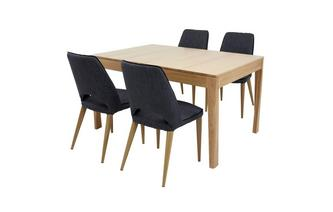 Small Extending Table & Set of 4 Upholstered Chairs