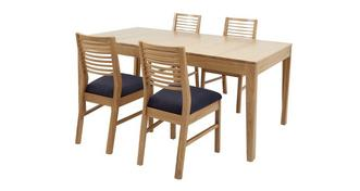 Hyatt Small Extending Table & Set of 4 Ladderback Chairs