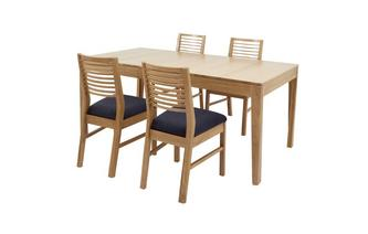 Small Extending Table & Set of 4 Ladderback Chairs Hyatt