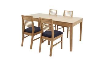 Klein uitstrekt eettafel reeks van 4 stoelen met horizontale latjes Hyatt