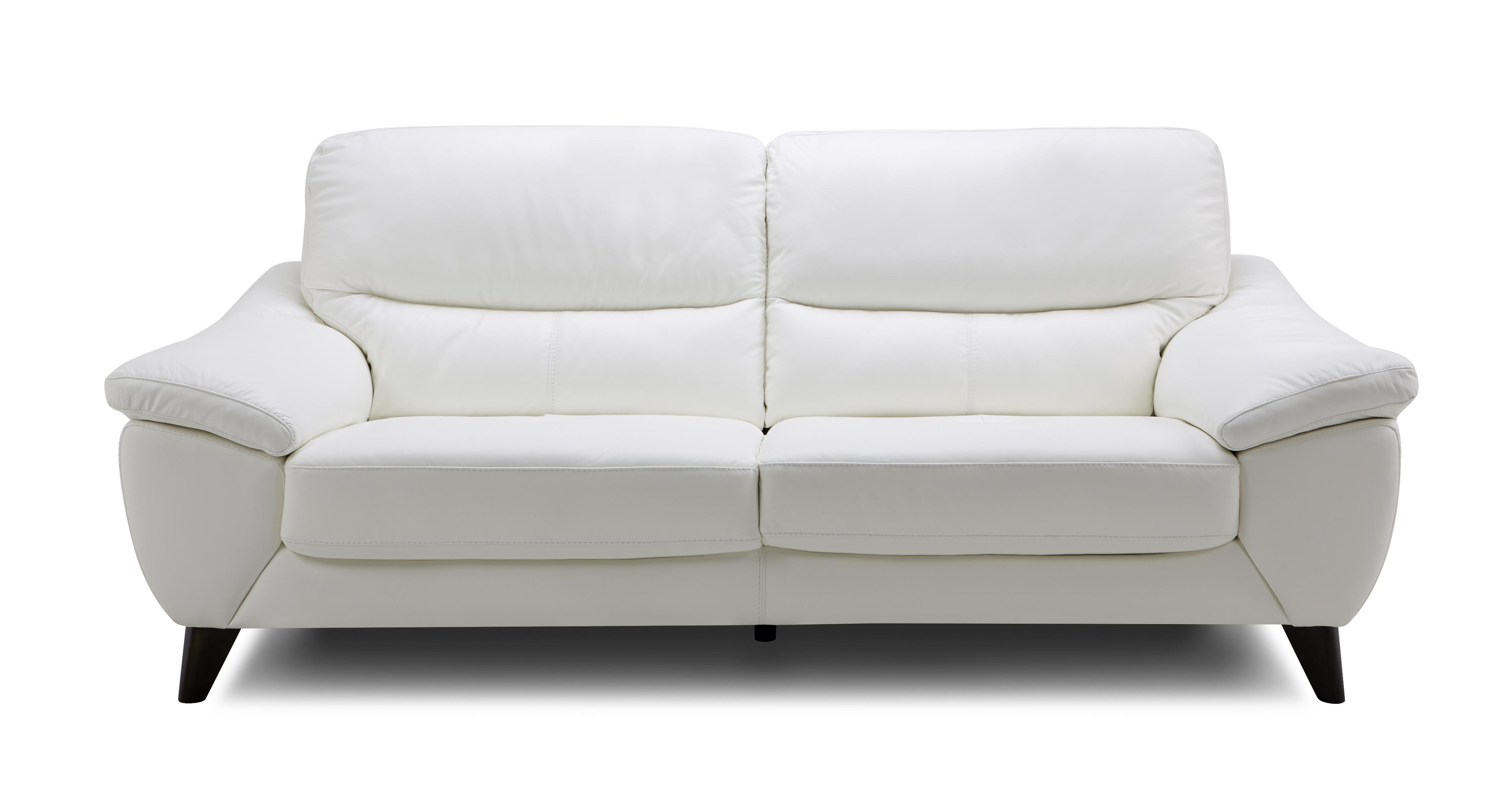 Icon Leather and Leather Look 3 Seater Sofa Premium