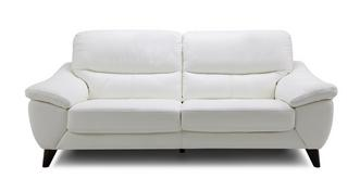 Icon Leather and Leather Look 3 Seater Sofa