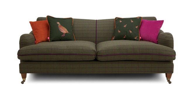 Ilkley: Tweed 4 Seater Sofa