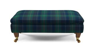 Ilkley Plaid Footstool