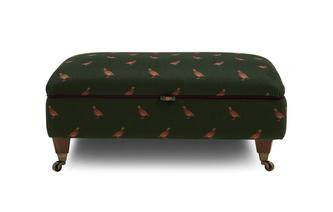 Velvet Storage Footstool Peter Partridge