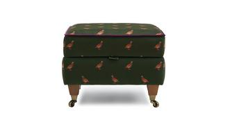 Ilkley Partridge Compact Storage Footstool