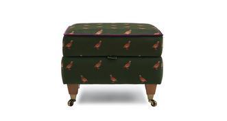 Ilkley Velvet Compact Storage Footstool