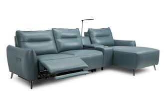 Left Hand Facing 3 Seat Power Chaise and Console
