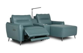 Left Hand Facing 2 Seat Power Chaise and Console