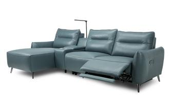 Right Hand Facing 3 Seat Power Chaise and Console