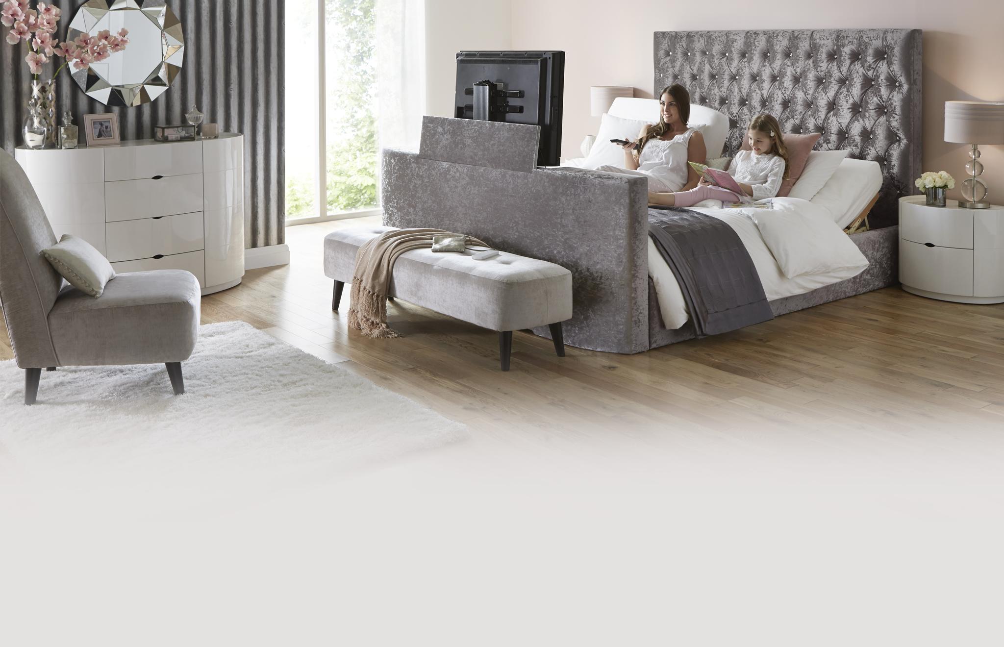 Tv In Bed : Tokyo tv ottoman bed dreams