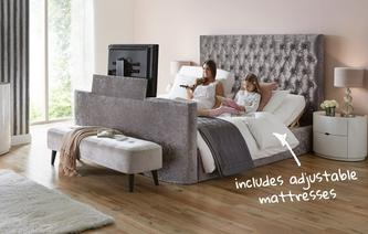 Tv In Bed : Bedroom double beds and mattresses dfs