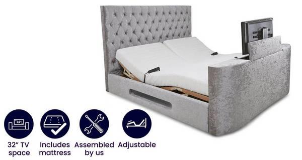 Impulse Super King Size (6 ft) Adjustable TV Bed & Mattress