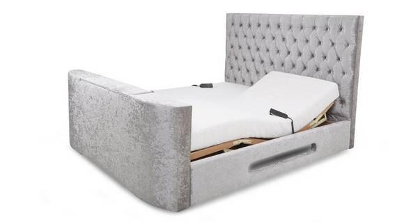 Impulse Super King Adjustable Tv Bed, Queen Size Tv Bed