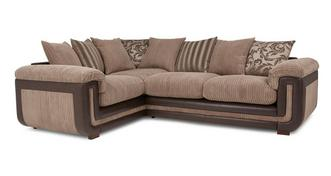 Inception Right Hand Facing 2 Seater  Pillow Back Corner Sofa