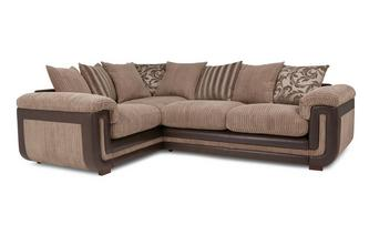 Right Hand Facing 2 Seater  Pillow Back Corner Sofa
