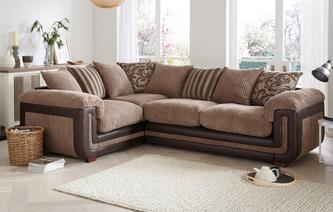 Inception Right Hand Facing 2 Seater  Pillow Back Corner Sofa Inception