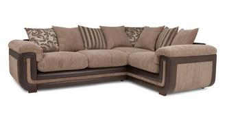 Inception Left Hand Facing 2 Seater Pillow Back Corner Deluxe Sofa Bed