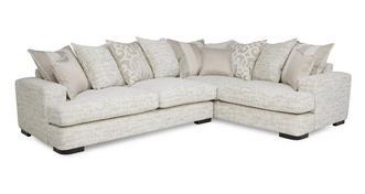 Indulge Left Hand Facing 3 Seater Pillow Back Corner Sofa
