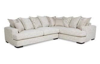 Left Hand Facing 3 Seater Pillow Back Corner Sofa Indulge