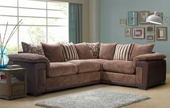 Infinity Left Hand Facing Pillow Back Corner Deluxe Sofa Bed Eternal