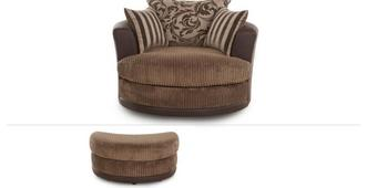 Infinity Clearance Large Swivel Chair & Stool