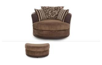 Large Swivel Chair & Stool Eternal