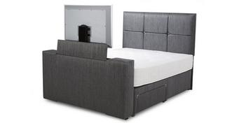 Inspire Double Continental 4 Drawer TV Bed