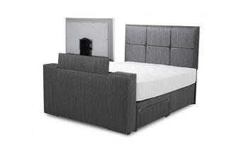 Double (4ft 6) Continental 4 Drawer TV Bed