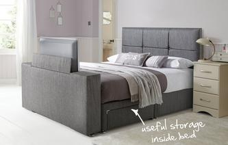 Inspire Double (4ft 6) 2 Drawer TV Bed Inspire