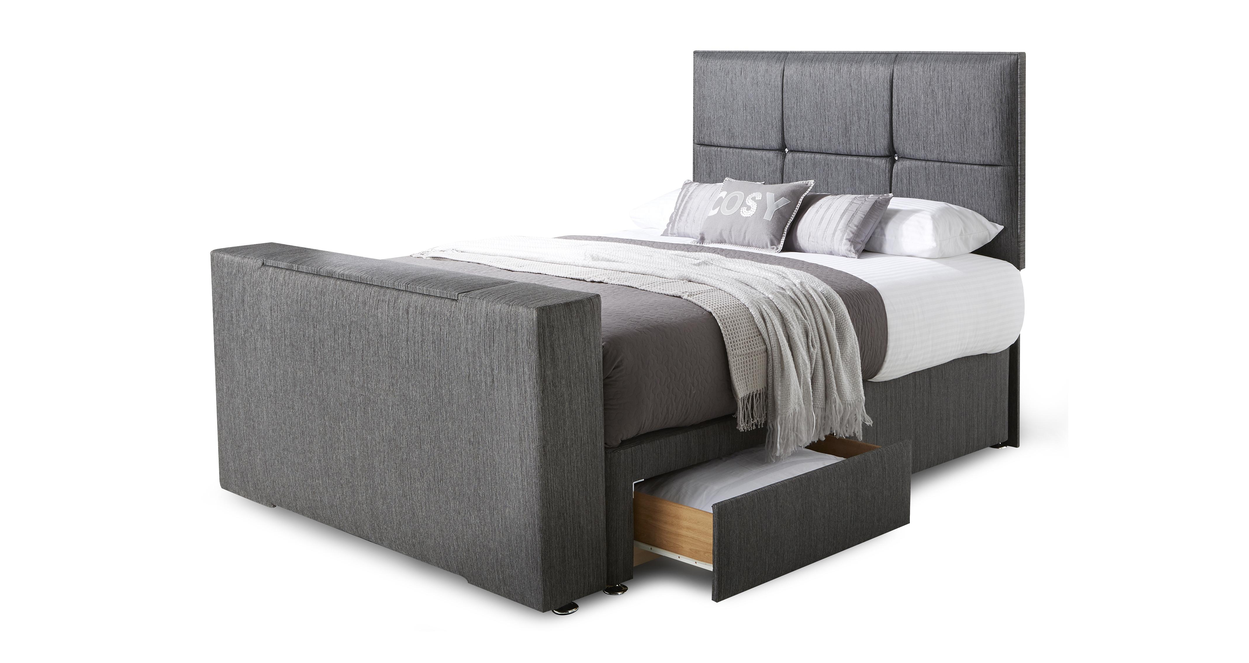 Tv In Bed : Inspire double 2 drawer tv bed dfs