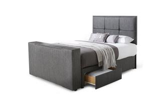 King 2 Drawer TV Bed
