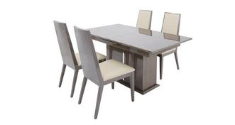 Italia Extending Dining Table & Set of 4 Chairs
