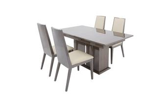 Extending Dining Table & Set of 4 Chairs Italia