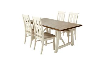 Fixed Dining Table & Set of 4 Chairs Ives