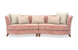 Velvet 4 Seater Split Sofa