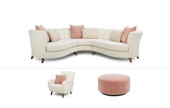 Corner Sofa, Accent Chair & Stool