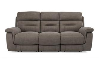 Fabric 3 Seater Manual Recliner