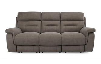 Fabric 3 Seater Power Plus Recliner