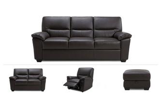 James Clearance 3 & 2 Seater Sofa, Manual Recliner & Stool Hazen