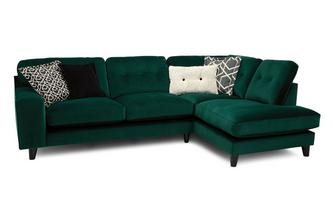 Left Hand Facing 3 Seat Open End Corner Sofa with Charging Unit
