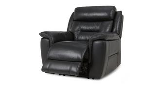Jenson Leather and Leather Look Manual Recliner Chair