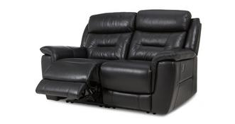 Jenson Leather and Leather Look 2 Seater Manual Recliner