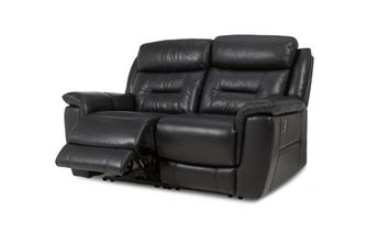Leather and Leather Look 2 Seater Manual Recliner Premium