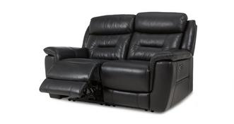 Jenson Leather and Leather Look 2 Seater Electric Recliner