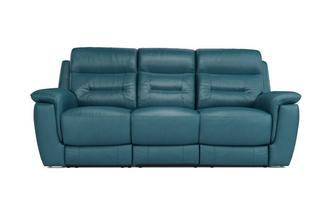 Jenson Leather and Leather Look 3 Seater Sofa Premium