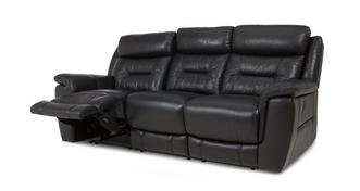 Jenson Leather and Leather Look 3 Seater Manual Recliner